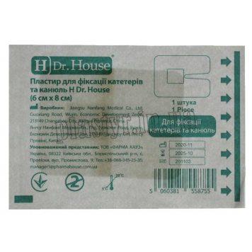Пластирь для катетеров и канюль H Dr.House 6смх8см-1